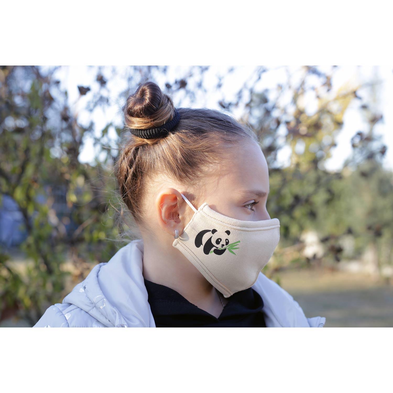 Kinder-Gesichtsmaske aus 60% Bambus-Viskose und 40% Recycle Polyester, 6 -11 Jahre,