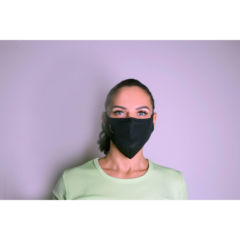 Gesichtsmaske aus 60% Bambus-Viskose und 40% Recycle Polyester, Damen