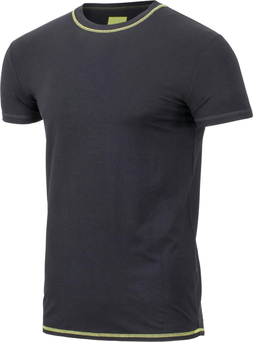 Visbatex T-Shirt Antibakteriell Silver+ Kurzarm – schwarz