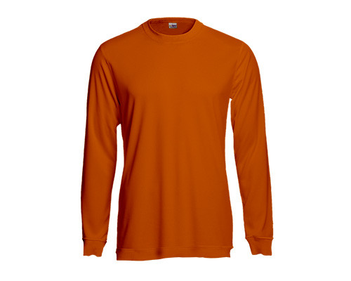 Orange-farbenes Longsleeve Polo-Shirt aus Baumwolle
