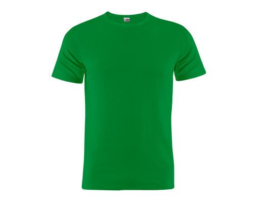 Grünes Rundhals T-Shirt aus 100% Baumwolle