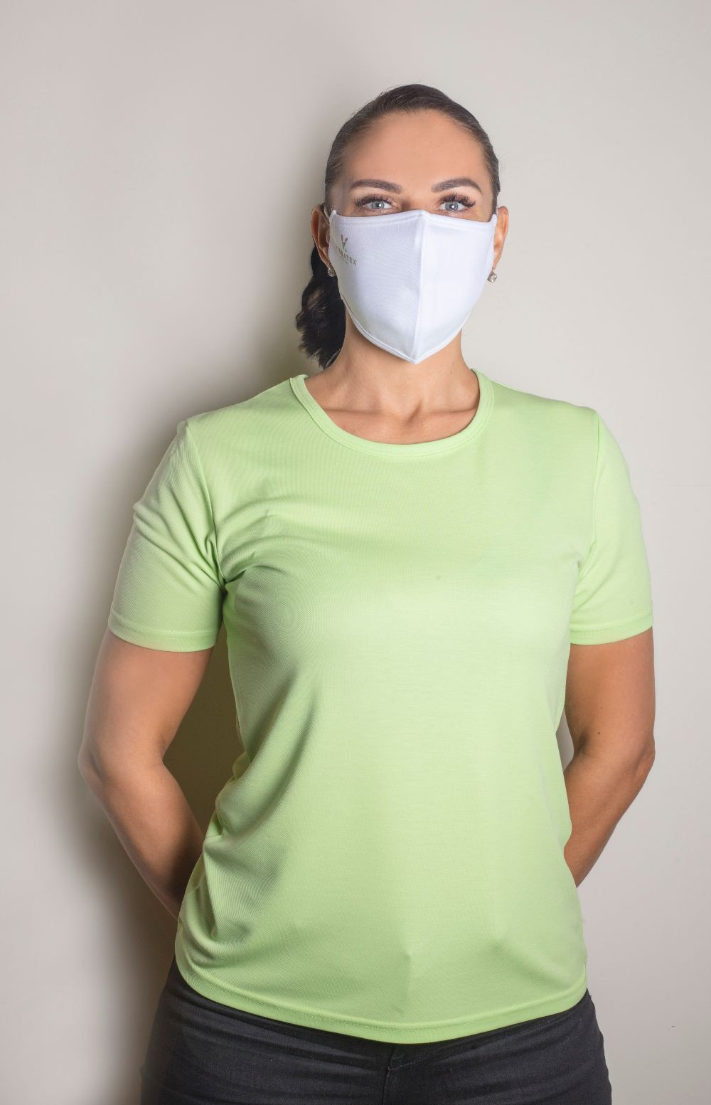 Visbatex T-Shirt Antibakteriell Silver+ Kurzarm – grün