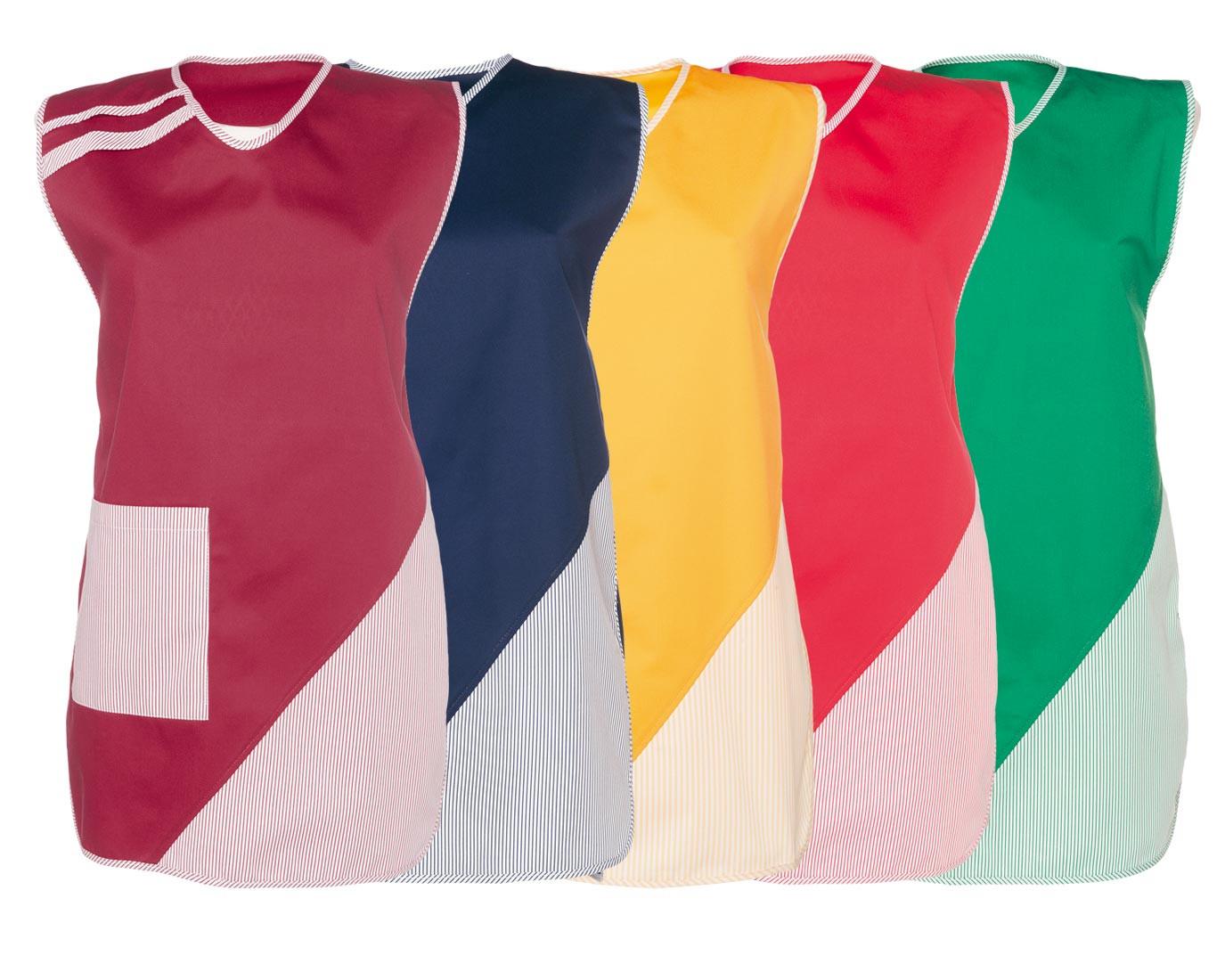 Damen-Überwurfkittel - zweifarbig - kurz