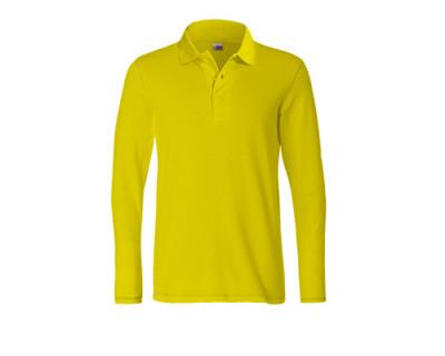 Gelbes Longsleeve Polo-Shirt aus Mischgewebe