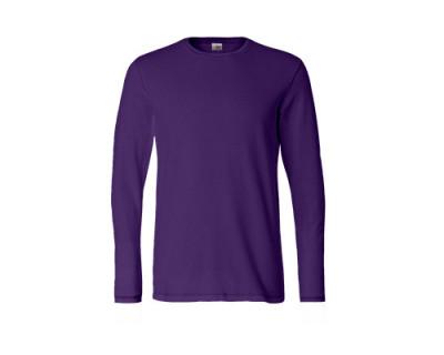 Violettes Langarm-T-Shirt aus Mischgewebe