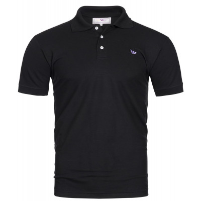 Visbatex Polo-Shirt Antibakteriell Silver+ Kurzarm – schwarz
