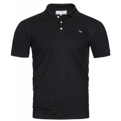 Visbatex Polo-Shirt Kurzarm - schwarz