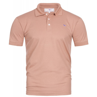 Visbatex Polo-Shirt Antibakteriell Silver+ Kurzarm – lachsfarben