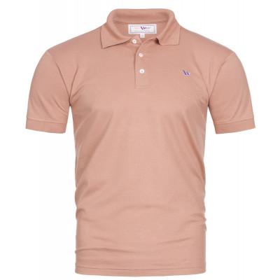 Visbatex Polo-Shirt Kurzarm - lachsfarben