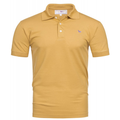 Visbatex Polo-Shirt Antibakteriell Silver+ Kurzarm – goldfarben