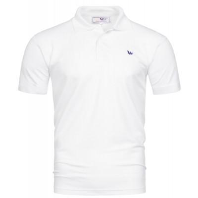 Visbatex Polo-Shirt Antibakteriell Silver+ Kurzarm – weiß