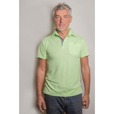 Visbatex Polo-Shirt Antibakteriell Silver+ Kurzarm – grün