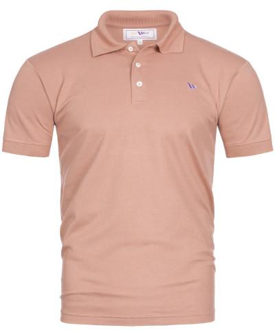Piqué-Poloshirt Kurzarm aus Bambus-Viskose - lachsfarben