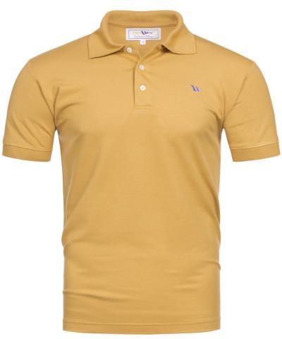 Piqué-Poloshirt Kurzarm aus Bambus-Viskose - goldfarben
