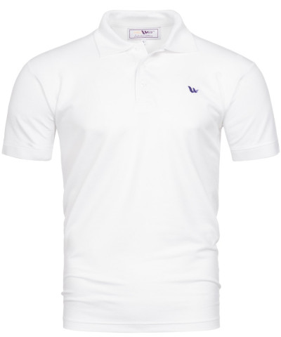 Piqué-Poloshirt Kurzarm aus Bambus-Viskose - weiß