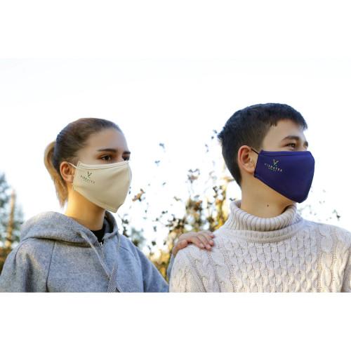 Teenager-Gesichtsmaske aus 60% Bambus-Viskose und 40% Recycle Polyester, ab 11 Jahre