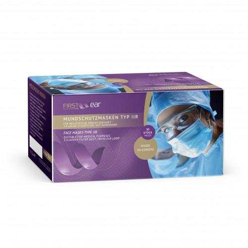 Mundschutzmasken Typ II r aus 100% Polypropylen