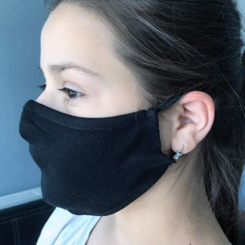 Teenager-Gesichtsmaske ab 10 Jahre aus 100% Baumwolle, 2-lagig