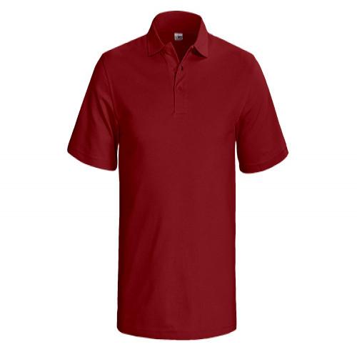 Poloshirt kurzarm aus Mischgewebe in bordeaux