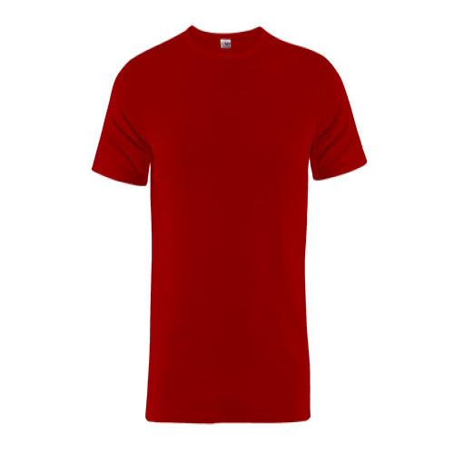 Rotes Rundhals T-Shirt aus 100% Baumwolle
