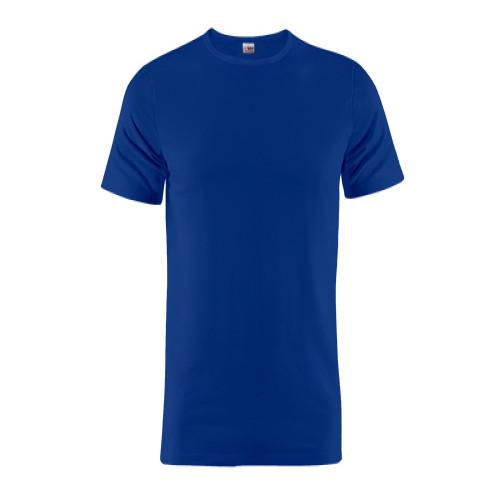 Blaues Rundhals T-Shirt aus 100% Baumwolle