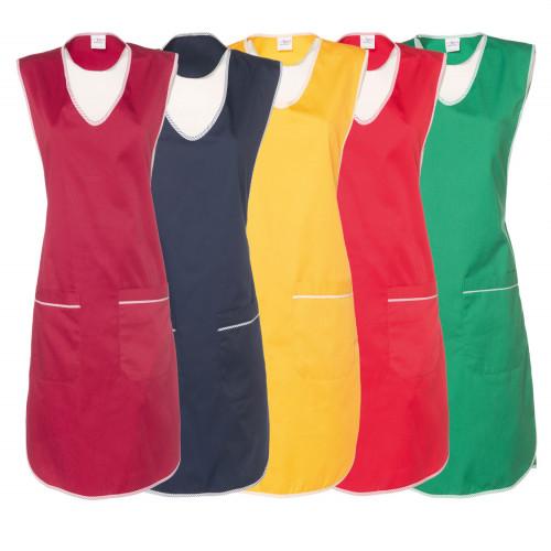 Damen-Überwurfkittel - einfarbig