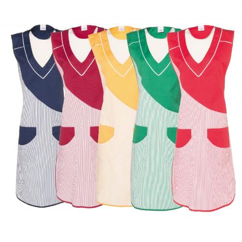 Damen-Überwurfkittel - zweifarbig