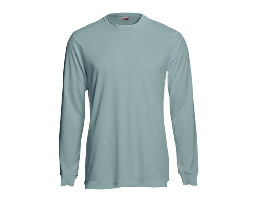 Sweatshirt aus Baumwolle in Eisblau